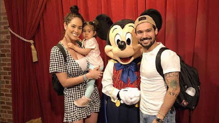 Karen Schwarz y Ezio Oliva disfrutan sus mágicas vacaciones en Disney