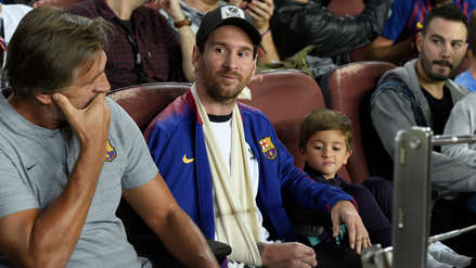 Lionel Messi asistió al Camp Nou para ver el Barcelona vs. Inter por la Champions League