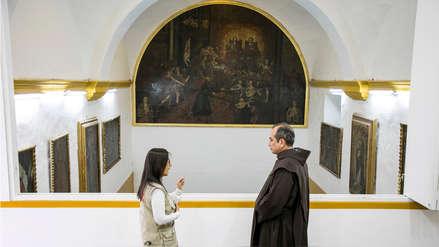 Restauran lienzo considerado como el más grande del norte del país