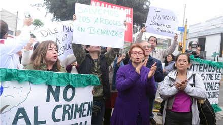 Vecinos de Surco protestaron contra obras de ampliación de la avenida Benavides