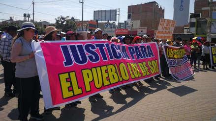 Moradores viajan de Chicama a Trujillo para protestar contra desalojo