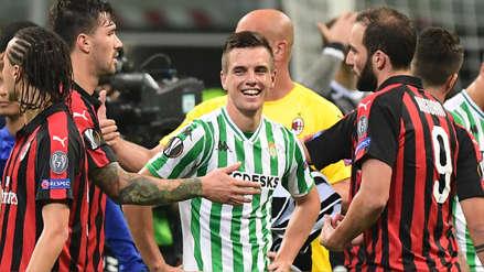 El Betis toma San Siro: derrotó 2-1 al Milan por la Europa League