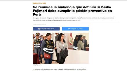 Así informaron medios internacionales sobre la audiencia de prisión preventiva contra Keiko Fujimori