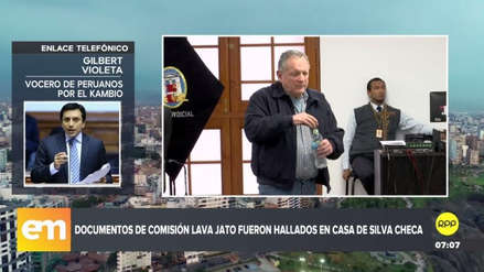 Lava Jato | Gilbert Violeta criticó a José Domingo Pérez por revelar que Vicente Silva Checa tenía documentos de la comisión