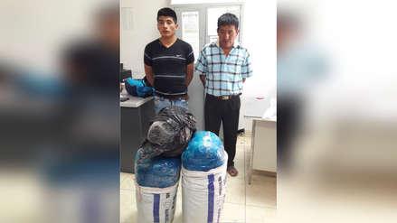 Chiclayo: detienen a padre e hijo con más de 35 kilos de marihuana