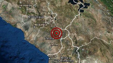 Un sismo de magnitud 4.7 remeció la región Tacna esta mañana