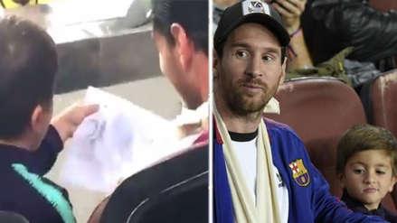 El hijo de Lionel Messi sorprendió con dibujo vinculado con Cristiano Ronaldo