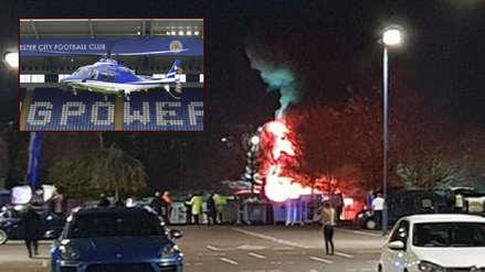 El helicóptero del dueño del Leicester se estrelló tras salir del estadio