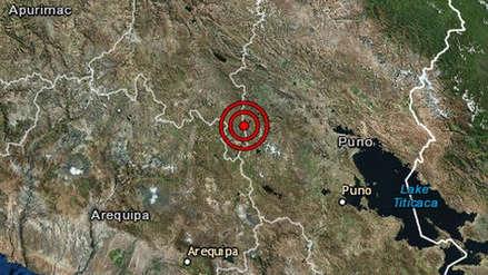 Un sismo de magnitud 4.8 remeció Puno esta madrugada