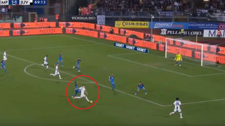 Cristiano Ronaldo anotó un golazo desde fuera del área en el triunfo de Juventus ante Empoli