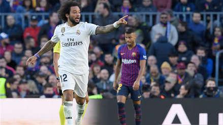 Barcelona vs. Real Madrid: El gol de Marcelo para anotar el descuento