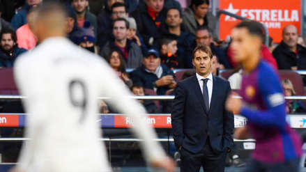 Julen Lopetegui tras Barcelona vs. Real Madrid: