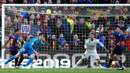 Barcelona vs. Real Madrid:  El gol de Philippe Coutinho tras pase de Alba para poner el 1-0