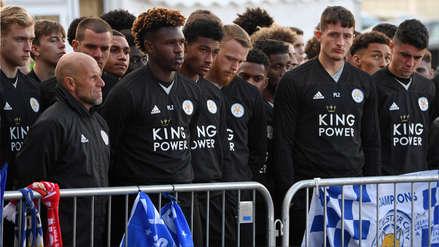 Leicester: Jugadores rindieron homenaje al presidente del club tras su accidente en helicóptero