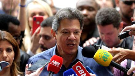 Fernando Haddad desea éxitos a Bolsonaro un día después de las elecciones en Brasil