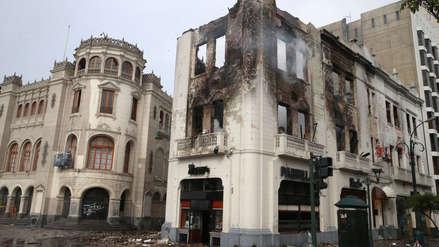 Municipalidad de Lima indicó que no tiene intención de demoler casona incendiada en Centro Histórico