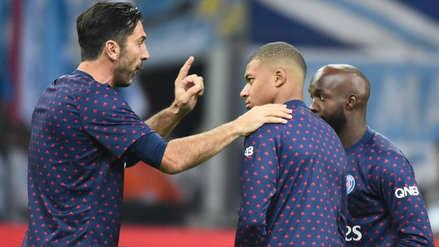 Gianluigi Buffon y su 'jalón de orejas' a Kylian Mbappé tras ser castigado por llegar tarde