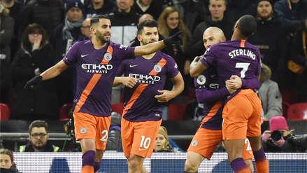Manchester City ganó 1-0 a Tottenham y alcanzó la punta de la Premier League 2018