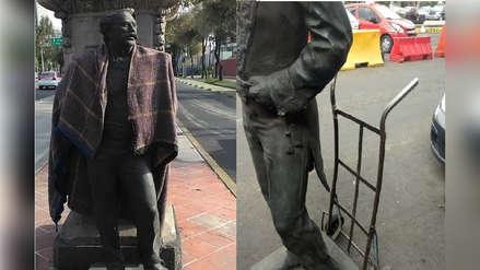 Hombre fue detenido cuando se llevaba una estatua de bronce de una céntrica avenida en México