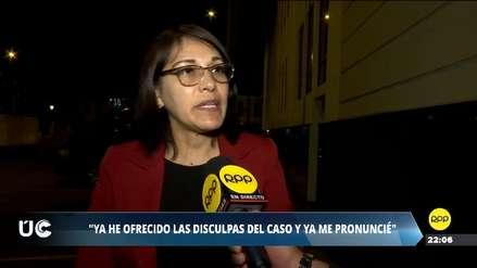 Milagros Salazar reitera sus disculpas a Vizcarra y pide