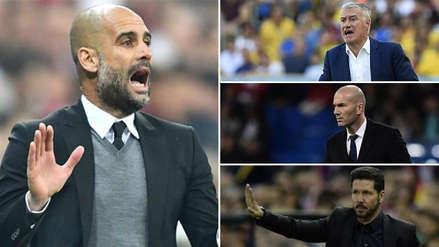 Guardiola, Zidane, Deschamps, Simeone y los 10 mejores entrenadores del mundo, según FourFourTwo