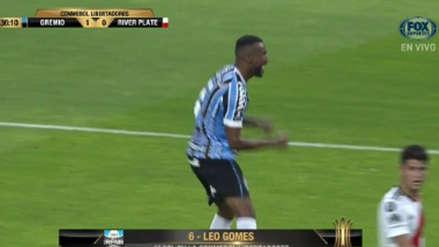 Gremio: Leonardo Gomes anotó golazo de volea ante River Plate