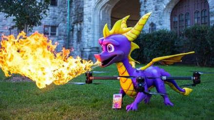 Spyro Reignited Trilogy celebra su lanzamiento con un dron que expulsa fuego real