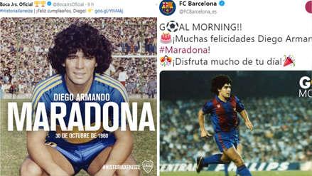 Diego Maradona de cumpleaños: los saludos que recibió del mundo fútbol