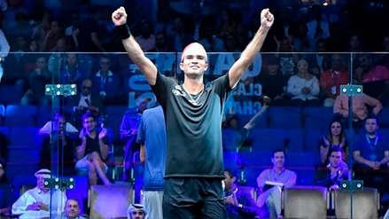 ¡Histórico! Diego Elías derrotó al número uno del squash y avanzó en el Qatar Classic 2018