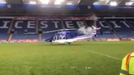 Las imágenes inéditas del accidente que le costó la vida al dueño del Leicester
