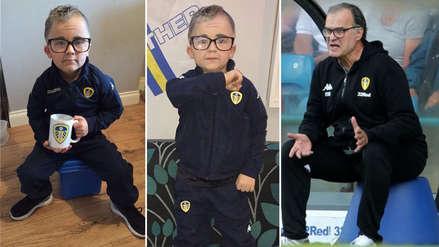 Niño hincha del Leeds United se disfrazó de Marcelo Bielsa por Halloween