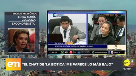 """Luisa María Cuculiza: """"El chat 'La Botica' me parece lo más bajo"""""""