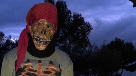 Messi y su hijo causaron furor con sus disfraces de esqueletos por Halloween