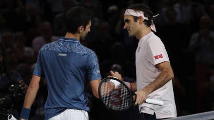 Novak Djokovic venció a Roger Federer y jugará la final del Masters 1000 de París