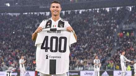 Cristiano Ronaldo fue homenajeado por sus 400 goles en ligas europeas