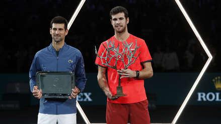 Djokovic cayó con Karen Khachanov en la final del Masters 1000 de París