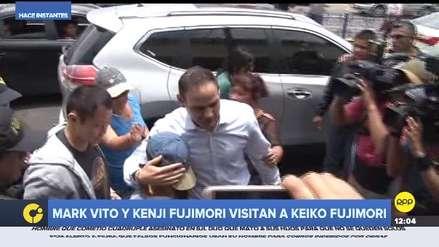 Keiko Fujimori: Kenji, Mark Vito Villanella y su hija fueron a visitarla al penal en Chorrillos