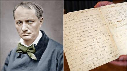 Fotos | Una carta de suicidio de Charles Baudelaire fue subastada por 234,000 euros