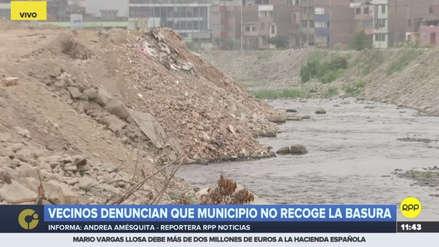 Toneladas de desmonte y basura han reducido el cauce del río Rímac en El Agustino
