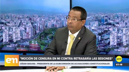 """César Segura tildó de """"caprichos"""" la posibilidad del retiro de congresistas de la Subcomisión"""