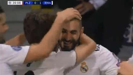 Real Madrid vs. Viktoria Plzen: El golazo entre las piernas de Karim Benzema para poner el 1-0