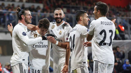 Real Madrid goleó 5-0 al Viktoria Plzen en el debut de Santiago Solari en la Champions League