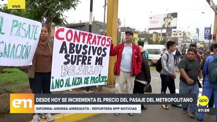 Usuarios realizaron plantón contra alza del pasaje del Metropolitano: