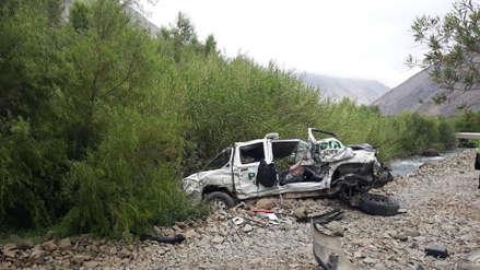 Un policía murió tras despiste de un patrullero en carretera de Arequipa