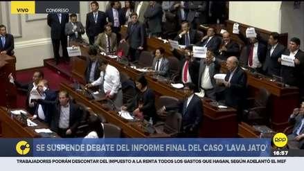 Fuerte discusión entre Apra y bancadas de izquierda obligó a suspender sesión del Pleno