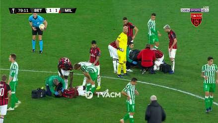 Milan 1-1 Real Betis: el brutal choque que dejó en el piso a Musacchio y Kessié