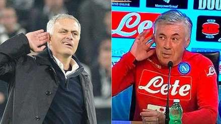 La divertida reacción de Ancelotti cuando le preguntaron por el gesto de Mourinho