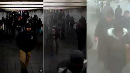 Video captó el momento en el que un terrorista suicida detonó bomba en el metro de Nueva York en 2017
