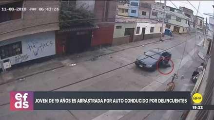Una joven fue arrastrada por un automóvil de asaltantes en San Martín de Porres