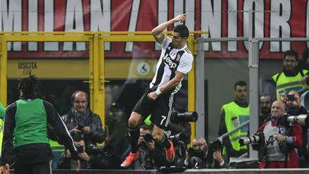Cristiano Ronaldo y su potente derechazo para marcar el gol de la victoria en el Juventus vs. AC Milan